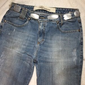 Blumarine Denim - Blumarine Vintage Jeans with Silver Discs at Belt