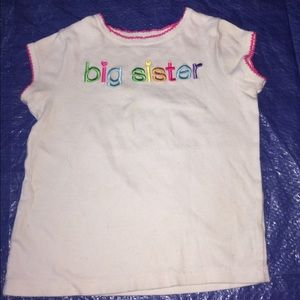 Carter's Other - CARTER'S GIRL'S BIG SISTER TOP.  SIZE 5