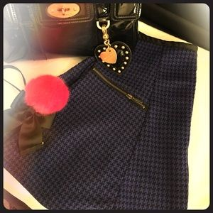 Stoosh Dresses & Skirts - Size L Blue Houndstooth Skirt