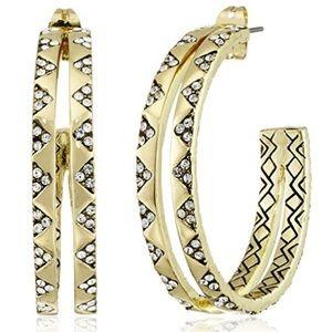 House of Harlow 1960 Jewelry - house of harlow // pavé split hoop earring
