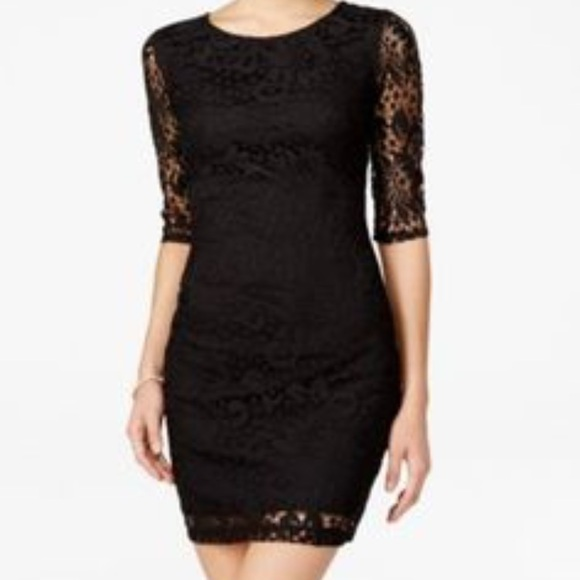 1bd3a672ba0 bcx juniors short sleeve lace bodycon dress