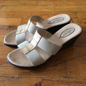 Callisto Shoes - Callisto Ali Wedge Sandals