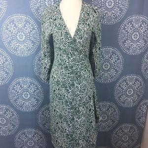 BCBGMaxAzria Dresses & Skirts - BCBGMaxAzria Green and White Wrap Dress