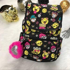 Betsey Johnson Handbags - Betsey Johnson black emoji backpack