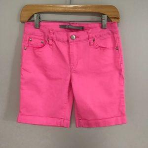 Tractr Girls Pink Bermuda Shorts