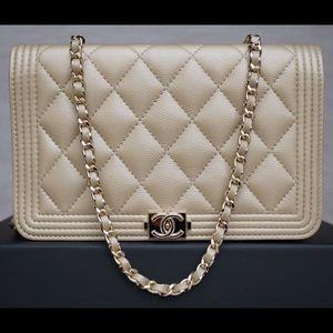CHANEL Handbags - Chanel Le Boy Wallet On Chain WOC Bag
