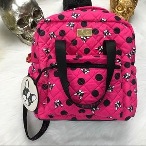 Betsey Johnson Handbags - Betsey frenchie hot pink backpack