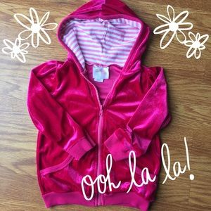 Dollie & Me Other - Hot Pink Velour Hoodie