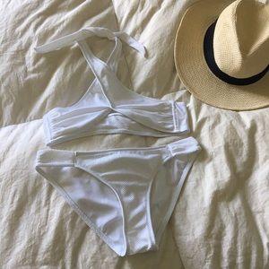 Topshop Other - TopShop Textured Halter Two Piece Bikini Swimsuit