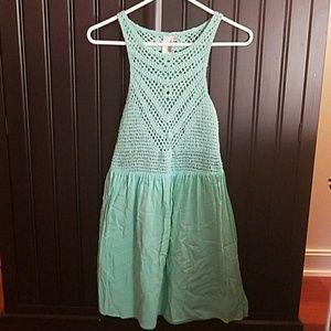 Dresses & Skirts - Boutique crochet top/cotton bottom dress