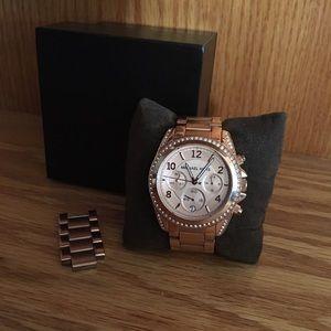 MK Blair Rose Gold Chronograph Watch (MK 5263)