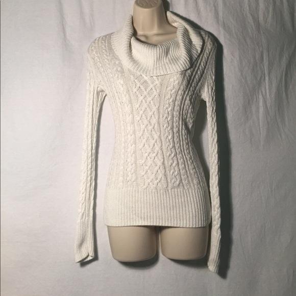 Turtleneck sweater dress white house