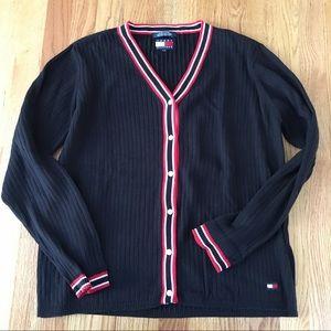 Vintage Tommy Hilfiger Cardigan Sweater Large Prep
