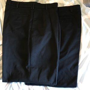Dockers black cotton straight fit pants 34wx32L
