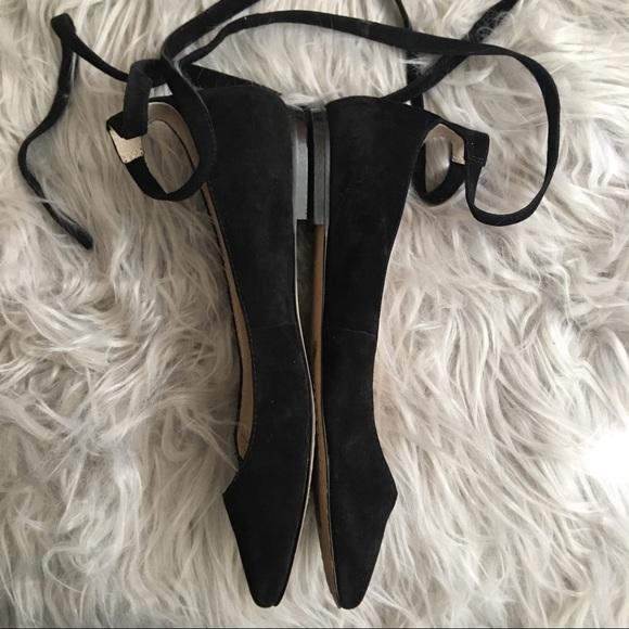 Vince Camuto Shoes - Vince Camuto Black Suede 'Bevian' Flats