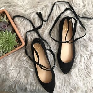 Vince Camuto Black Suede 'Bevian' Flats