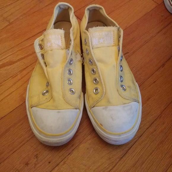 Yellow Slip On Converse   Poshmark