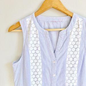 ModCloth Tops - Stripe & Lace Top