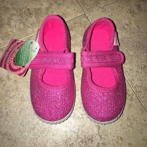 Cienta Other - Pink Sparkly baby shoes