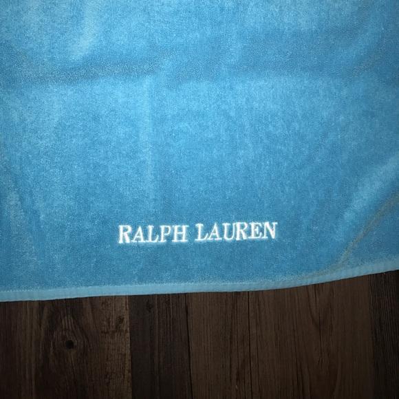 Ralph Lauren Mens Beach Towel: Oversized Ralph Lauren Aqua