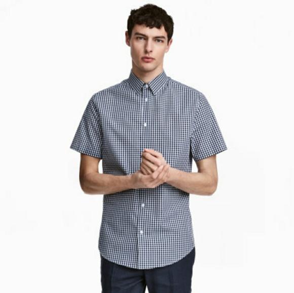 ce5a341f789c H&M Shirts | Hm Mens Slim Fit Short Sleeve Button Down | Poshmark
