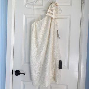 Aqua Dresses & Skirts - NWT Lace Formal off white Cocktail Dress