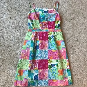 Lilly Pulitzer vintage patchwork dress