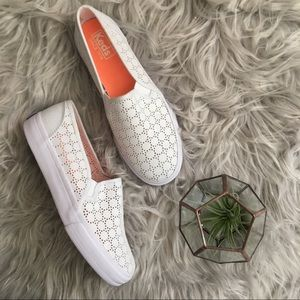 Keds Perforated Canvas Slip-On Sneakers