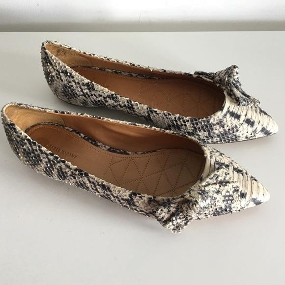 d090d29308 Isabel Marant Shoes | Phyton Effect Bow Pointedtoe Flats | Poshmark