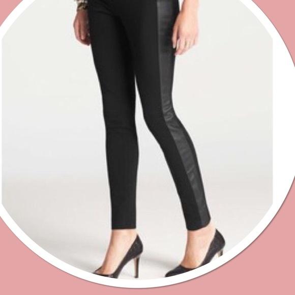 Hue Women/'s Tux Stripe Shine Tights Black Size S//M