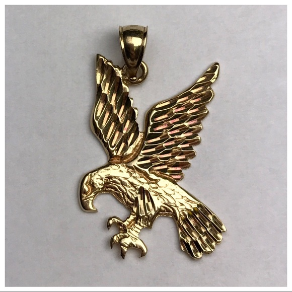 Stamped accessories 14k yellow gold unisex eagle pendant poshmark 14k yellow gold unisex eagle pendant aloadofball Gallery