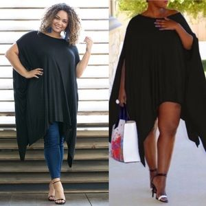 Passion of Essense Dresses & Skirts - Sexy Plus Size Handkerchief Hem Poncho Top