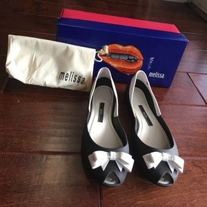 Melissa Shoes - Melissa Queen white and black matte