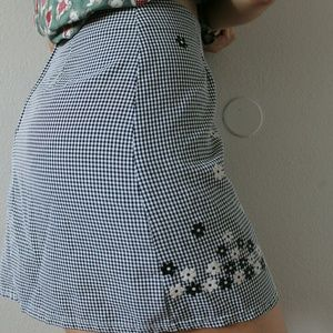 Vintage plaid gingham skirt