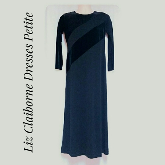 Liz Claiborne Dresses & Skirts - Liz Claiborne Petite  Long Dress Black Size Small