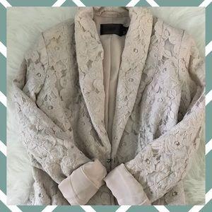 H&M Jackets & Blazers - H&M Floral lace Blush blazer size S