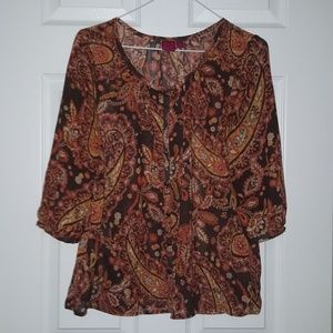 212 Collection Tops - 💛NWOT 212 Collection Multicolored Paisley Blouse