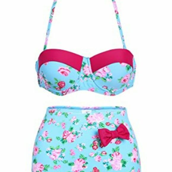 floral high waisted bikini - photo #27