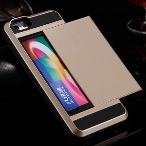 Accessories - Slide Card Cover For iPhone 6 6s Plus 7 5 s se