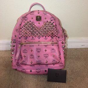 MCM Handbags - MCM pink backpack.
