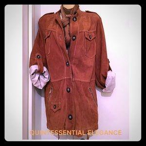 Marina Rinaldi Jackets & Blazers - MARINA SPORT Camel/Brown Suede Jacket (New)