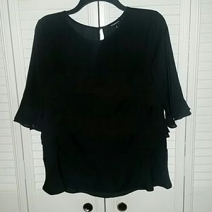 Who What Wear Tops - Black blouse