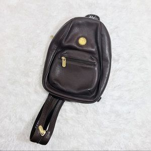 Pierre Balmain Handbags - PIERRE BALMAIN Vintage Chocolate Leather Backpack
