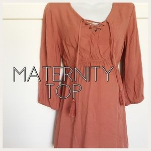 Motherhood Maternity Tops - Motherhood Maternity top blush color size medium