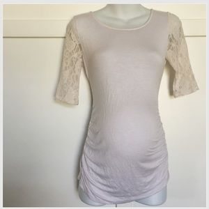 Jessica Simpson Tops - White Maternity lace sleeve top Jessica Simpson