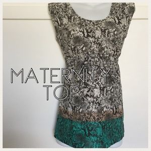Motherhood maternity snake print top