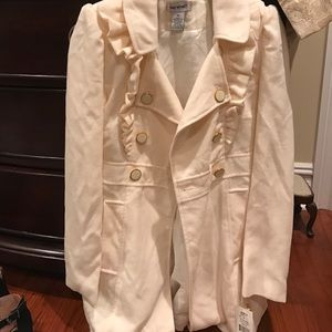 NWT Ivory Long Coat