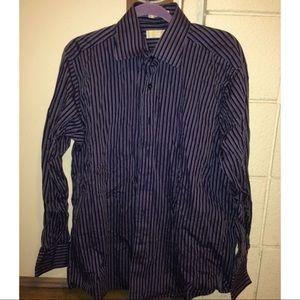 KORS Michael Kors Other - 😜LAST CALL Michael Kors Mens Striped Shirt Size L