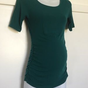 A Pea in the Pod Tops - Pea in the pod maternity teal top size small