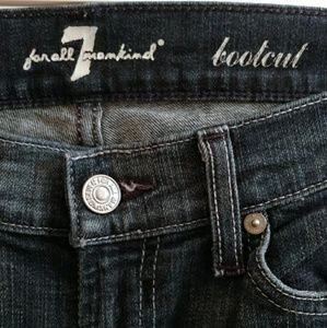 7 for all mankind dark blue bootcut jeans 28